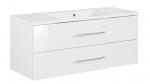 Fackelmann B.clever Waschtisch + Waschtischunterschrank (120 cm) Weiß, 82893